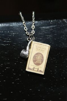 Hey, I found this really awesome Etsy listing at https://www.etsy.com/listing/179018431/sherlock-holmes-mini-book-necklace