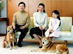 Crown Prince Naruhito and family.