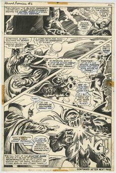 MARVEL PREMIERE #6 PAGE 22 1973, Frank Brunner's First Doctor Strange Story!