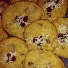 Banana Coconut Chocolate Chip Cookies