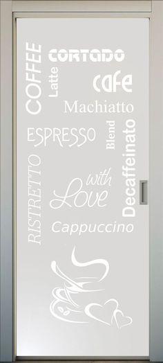 SI te gusta el café, este es el vinilo para la puerta de tu cocina. Es ya un clásico entre nuestros clientes!! #lovevinilos