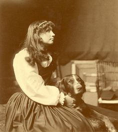 Helen Keller as an Adolescent, Sitting With Her Dog. Visit the Perkins Archives Flicker page: http://www.flickr.com/photos/perkinsarchive/collections/