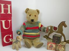 Once Upon A Time Bears - specialising in vintage and antique teddy bears, collectable old teddy bear clothes and accessories. Chad Valley, Merrythought and Chiltern teddy bears for sale. Teddy Bears For Sale, Old Teddy Bears, Antique Teddy Bears, Steiff Teddy Bear, Teddy Bear Clothes, Inner Child, Old Friends, Pet Toys, Crates
