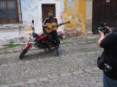 Filming a Music Video in Antigua Guatemala by Rudy Giron