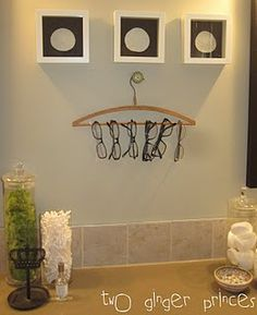 Stylish way to display your collection of glasses or sunglasses.