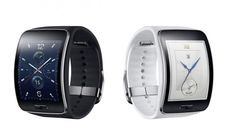 Samsung unveils Gear S, a smartwatch with curved display The Tizen-based smartwatch sports a super AMOLED display and connectivity. Wearable Device, Wearable Technology, Samsung Gear S, Men Accesories, Accessories, Tech Gadgets, Smartwatch, Fashion Dolls, Flash Drive