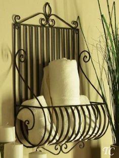 Amazon.com: Mediterranean Tuscan Wrought Iron Metal Wall Planter: Home & Kitchen