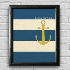Nautical Print, Anchor Print, Sailing Print, Beach House Decor, Bedroom Wall Art, Nautical Print, Inspirational Print, Typography Poster