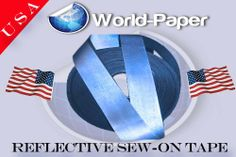 """Safety Reflective Material Silver Fabric Trim Tape Sew on 1"""" Sold By the Yard  Use to make a reflective mesh vest."""