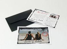 Para los amantes de la fotografía, una invitación dentro de un carrete.Vía Sarah-Lisa Lorenz en Pinterest