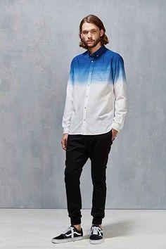 Koto Stevens Dip-Dye Oxford Button-Down Shirt
