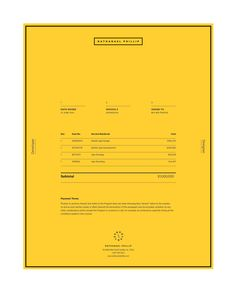 Invoice Design: 50 Examples To Inspire You Invoice Layout, Invoice Design, Invoice Template, Branding Design, Text Layout, Form Design, Print Design, Menu Design, Presentation Design