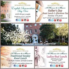 Mulberry House Afternoon Tea, Fathers Day, Summertime, 21st, June, Sunday, Events, Domingo, Father's Day
