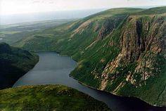 Fjord | fjord valley at Ten Mile Pond, Gros Morne National Park ...