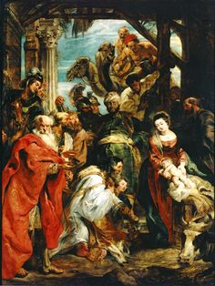 Peter Paul Rubens Adoration of the Magi Netherlands (1626) Oil on Panel,447 x 336 cm. Commissioned by Matthias Yrsselius for the abbey of Saint Michael in Antwerp Koninklijk Museum...