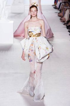 Giambattista Valli's lacy, lovely couture runway fashion Paris Fall 2013