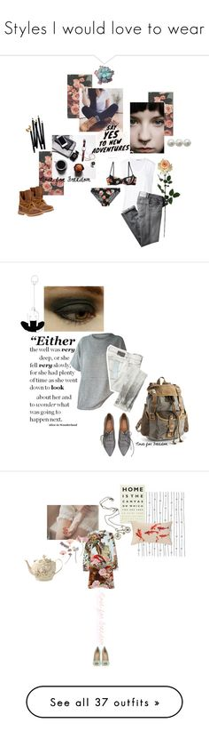 """""""Styles I would love to wear"""" by noseforfreedom ❤ liked on Polyvore featuring Laura Cole, T By Alexander Wang, Heidi Klum Intimates, Bobbi Brown Cosmetics, Citizens of Humanity, Timberland, Diesel, The Same Direction, Mary Katrantzou and Ulster Weavers"""