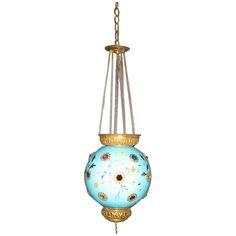 Antique Glass Lantern