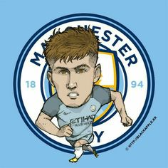 Football Paintings, John Stones, Pop Art Design, City Illustration, Manchester City, World Cup, Soccer, Fan Art, Seasons