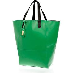 Green leather oversized tote bag as seen in Elle #riverisland #inthepress