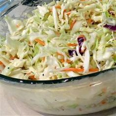coleslaw (for using up leftover cabbage)