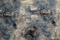 NB15/16 7103-8 Tricot vogels blauw