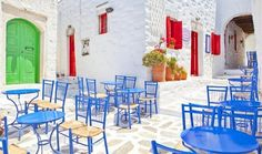Outdoor Furniture Sets, Outdoor Decor, Night Life, Greece, Home Decor, Colors, Google, Greece Country, Decoration Home