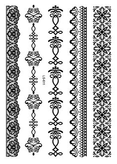 Black Lace Tattoos Face Body Paint Henna Ink Body Painting Make Up Halloween Party Fashion Stickers Waterproof Body Art Tattoo Henna Ink, Tattoo Henna, Real Tattoo, Ankle Tattoo, Arm Tattoo, Body Art Tattoos, Sleeve Tattoos, Tattoo Stickers, Lace Garter Tattoos