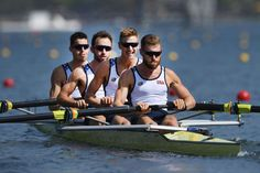 Row your boat:    Robin Prendes, Anthony Fahden, Edward King and Tyler Nase of the United States compete during the LWT Men's Four Heat 3 at the Lagoa Stadium on Aug. 6.