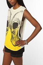 Truly Madly Deeply Skull Reflect Dip-Dyed Tee  #UrbanOutfitters
