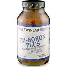 Twinlab Tri-Boron Plus, Capsules, 240 ea, Yellow