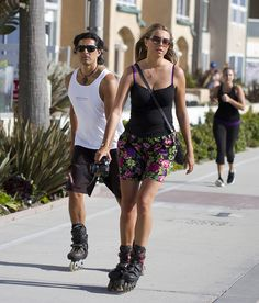 SKATING Rollerblading couple by San Diego Shooter, via Flickr