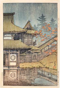 KAWASE HASUI Yamadera in Sendai, 1933 Woodblock Print 15 1/4 × 10 1/2 in 38.7 × 26.7 cm