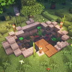 Here is a small building that I built yesterday I love aba buildings - Everything About Minecraft Minecraft Crafts, Plans Minecraft, Minecraft Garden, Minecraft Room, Minecraft Decorations, Minecraft Tutorial, Minecraft Blueprints, Cool Minecraft Houses, Minecraft Furniture