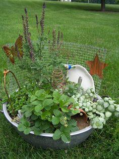 Miniature Junk Gardens – Garden Junk Forum – GardenWeb- neat idea for the kids to create their own. Garden Web, Garden Junk, Garden Planters, Garden Design, Garden Forum, Market Garden, Porch Plants, Indoor Plants, Unique Gardens