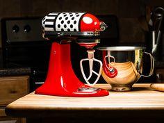 ColorWare gives KitchenAid Artisan mixer a polka dot and stripe makeover