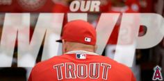 Today, Nov Mike Trout was named the 2014 American League Most Valuable Player in an announcement made by the Baseball Writers' Association of America. Angels Baseball, Mike Trout, American League, Baseball Players, Sports, Angles, Writers, Announcement, Bb
