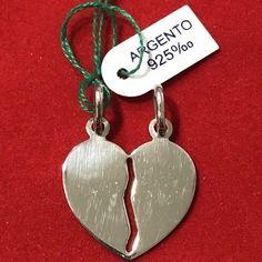 Cuore Divisibile Argento 925 Ciondolo Pendente Heart Mezzocuore  | eBay