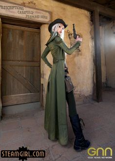 kato steampunk green coat