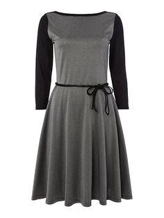 Loughran 3/4 sleeve boatneck dress