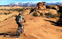 Moab Mountain Biking  Slikrock Bike Trail Moab Mountain Biking, Mountain Biking Quotes, Park City Mountain, Giant Bikes, Alpine Lake, Bike Parking, Best Places To Live, Greatest Adventure, Cycling