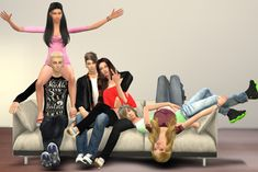 Sofa Group Pose at Chaleara´s Sims 4 Poses via Sims 4 Updates