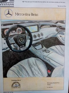 Todays visual arts practical!  Design and ad!  Mercedes-Benz