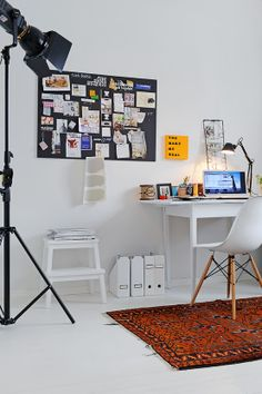 apartment with a real fireplace 20 554x833 60 Cool Office Workspaces | Part 17