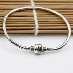 Genuine 925 Silver Vintage Bracelet Pandora Style