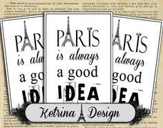 Paris is always a good idea ATC cards 2.5 x 3.5 by KetrinaDesign
