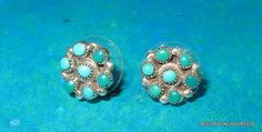 Native American Round Turquoise Earrings by DecoratingYourself