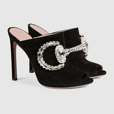 Gucci Women - Maxime crystal suede sandal - 388731C20001000