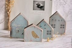 Buy decorative houses in scandi style – houses, interior house, decorative house, Wooden house Scrap Wood Crafts, Wood Block Crafts, Wooden Crafts, Wood Blocks, Wood Projects, Small Wooden House, Ceramic Houses, Wooden Houses, Christmas Signs Wood