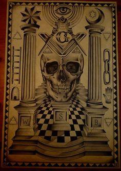 The Hidden Truth: Illuminati Symbols Masonic Art, Masonic Symbols, Masonic Signs, Masonic Order, Masonic Temple, Occult Symbols, Masonic Tattoos, Freemason Tattoo, Freemason Symbol